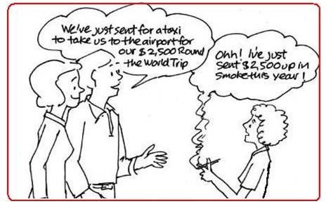 Smoking Cost Cartoon